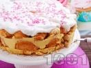 Рецепта Лесна торта с мини кроасани и ванилов крем